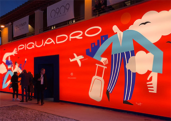 When travel meets fashion & technology: playful illustrations for Piquadro