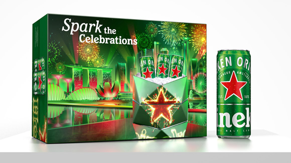 Spark your Celebrations: A Festive Packaging for Heineken