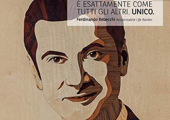 SANDOR'S WOODEN PORTRAITS FOR BNL-BNP PARIBAS' NEW CAMPAIGN