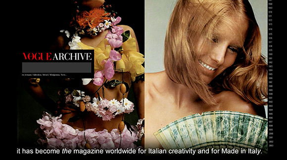 FRANCA SOZZANI INTRODUCES VOGUE ITALIA ARCHIVE