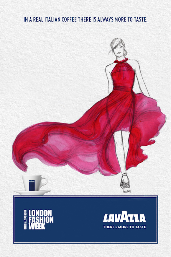 Coffee Catwalk: Machas illuminates the creative talent for Lavazza's latest London Fashion Week camp