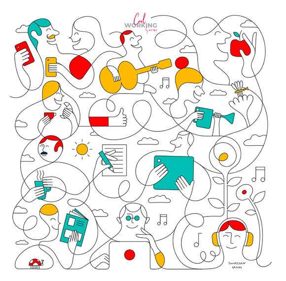 Jonathan Calugi x Cool Working by Actiu