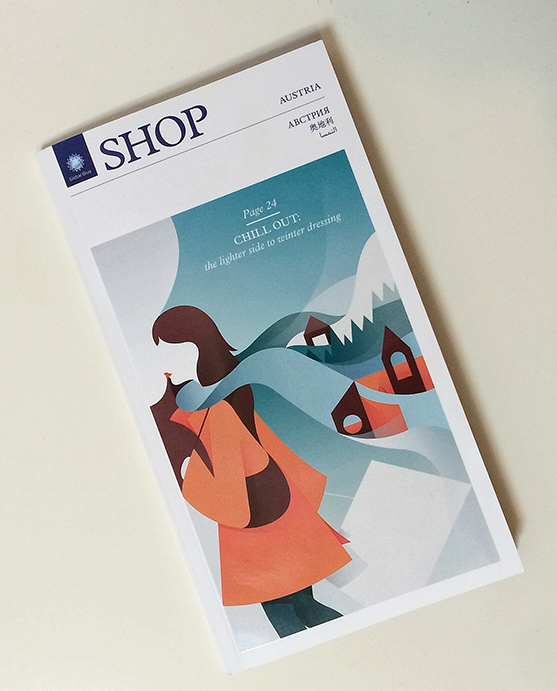 Holiday In Austria: Ray Oranges for SHOP Magazine
