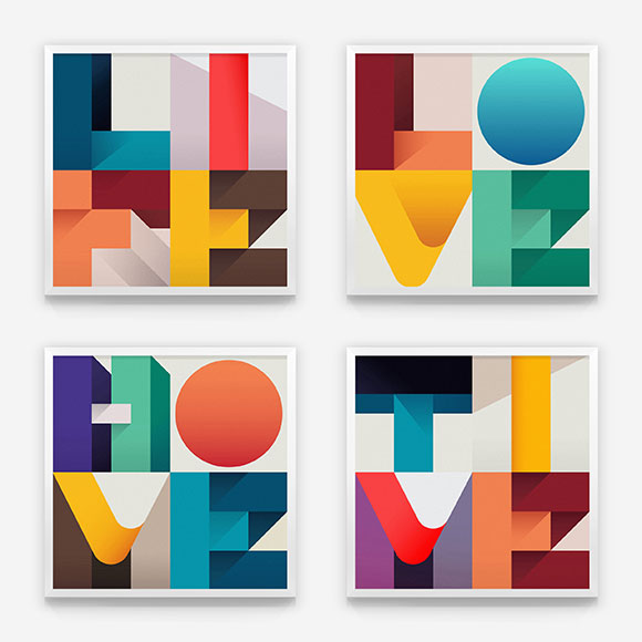 When type meets abstract illustration: Ray Oranges & Federico Landini prints