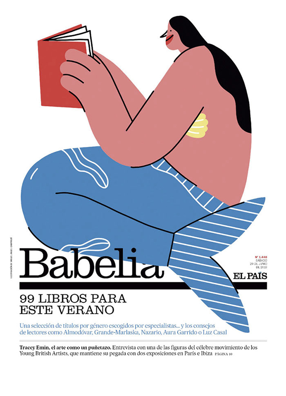 Bookworms on the beach: Miguel Angel Camprubí for El Pais