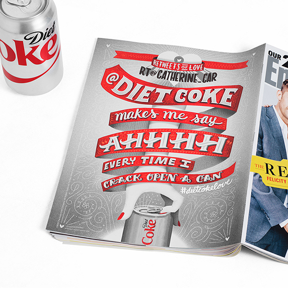 Jeff Rogers for Diet Coke's Re-Tweets of Love