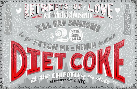 Jeff Rogers for Diet Coke's Re-Tweets of Love