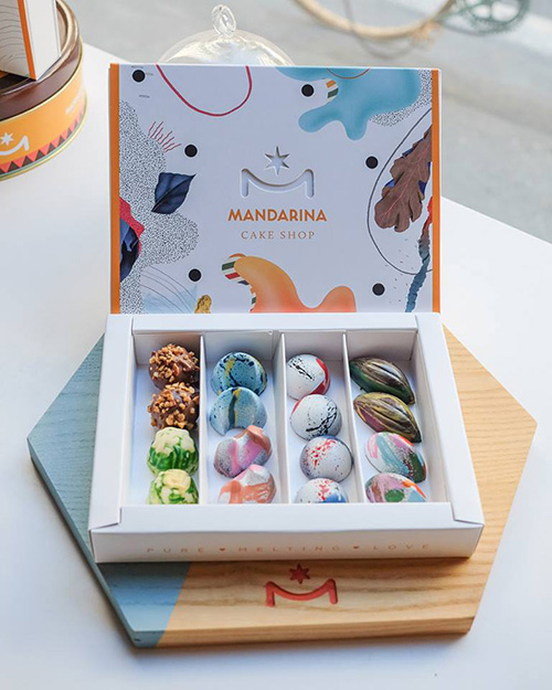 Cake My Day: Becha's sweet packagings for Mandarina Cake
