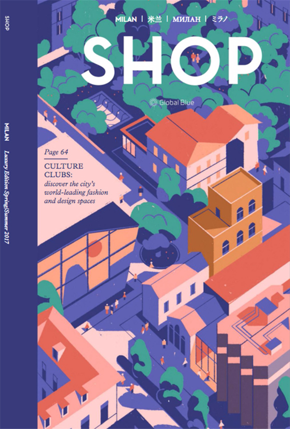 Design Hub: Matteo Berton illustrates Shop Magazine's Milan Design Week issue