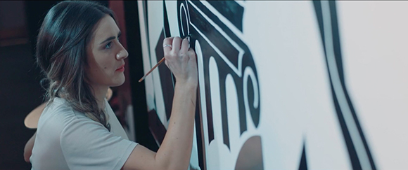 Never Stop Moving: Kelly Anna's live painting and installations for Equinox Fitness Club