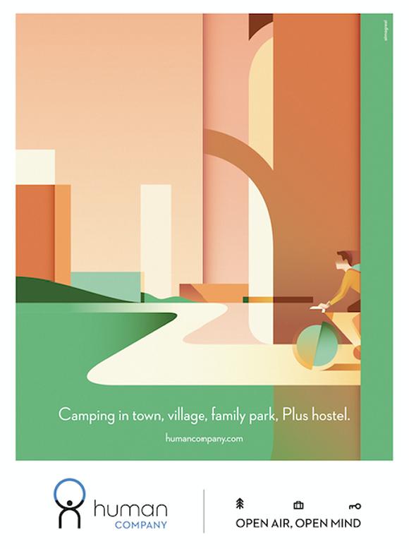 Ray Oranges ignites Human Company's campaign with minimal and vibrant creativity