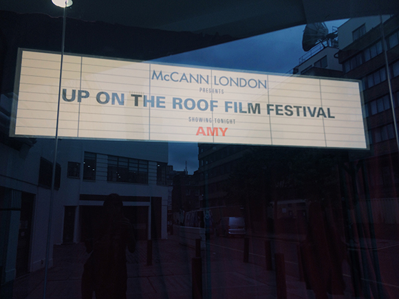 Up On The Roof: Ray Oranges for McCann' Film Festival