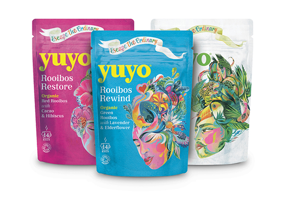 Tea Time: Olaf Hajek creates evocative visuals for the re-branded packaging of YuYo