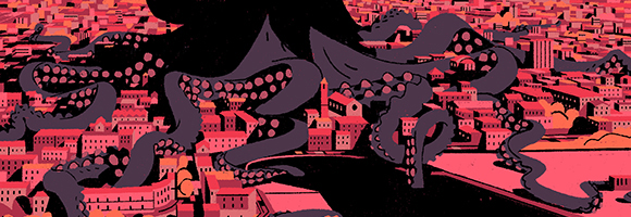 "Matteo Berton illustrates ""La Piovra"" for Arte Channel"