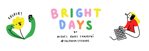 Bright Days: Miguel Angel Camprubi's irresistible Facebook stickers