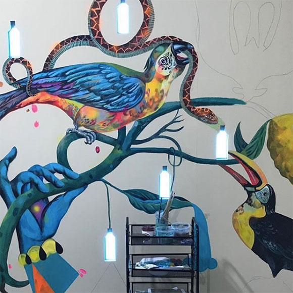 Olaf Hajek for Bombay Sapphire Canvas: Stirring creativity