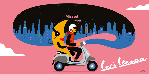 Together at Last: Agostino Iacurci for Vespa global campaign