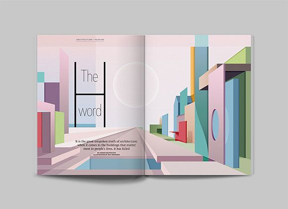 Architectural Positivity: Ray Oranges' bright future for Icon Magazine
