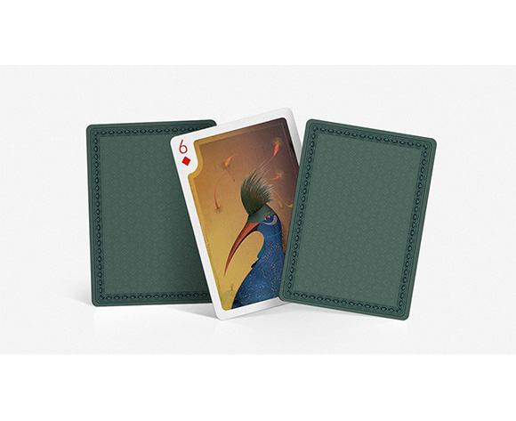 Tooco 6 of diamonds paradise birds playing cards