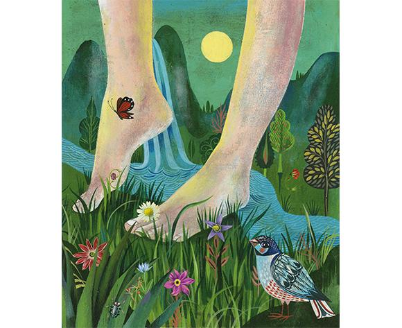 Joy barefoot