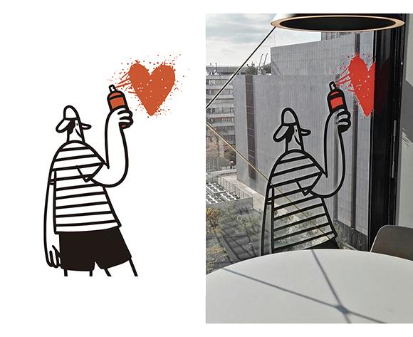 Miguel Camprubí López - La Caixa Offices - Graffiti