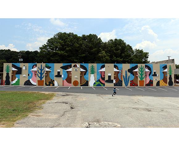 Agostino Iacurci Wallter Atlanta Mural