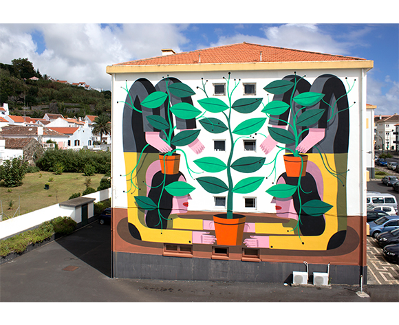 Agostino Iacurci Aerial roots Mural Terceira Azores
