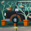 Agostino Iacurci Pot plants do not collect vintage cars mural Sheffield UK