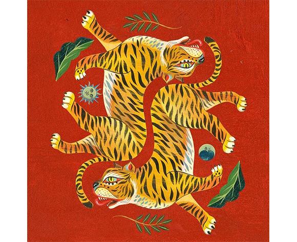 Olaf Hajek Diptyque Tiger