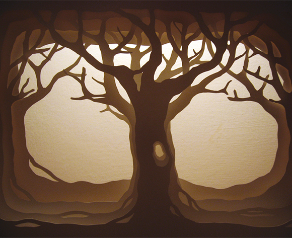 papercut 35x50 Winter Tree