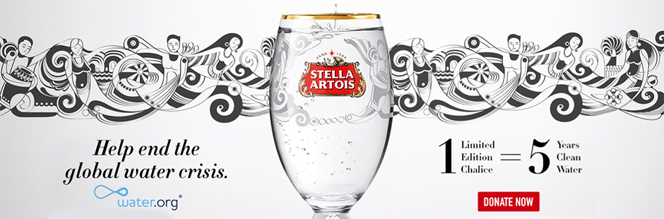 Fernando brings Brazilian life to Stella Artois' Buy a Lady a Drink water.org campaign