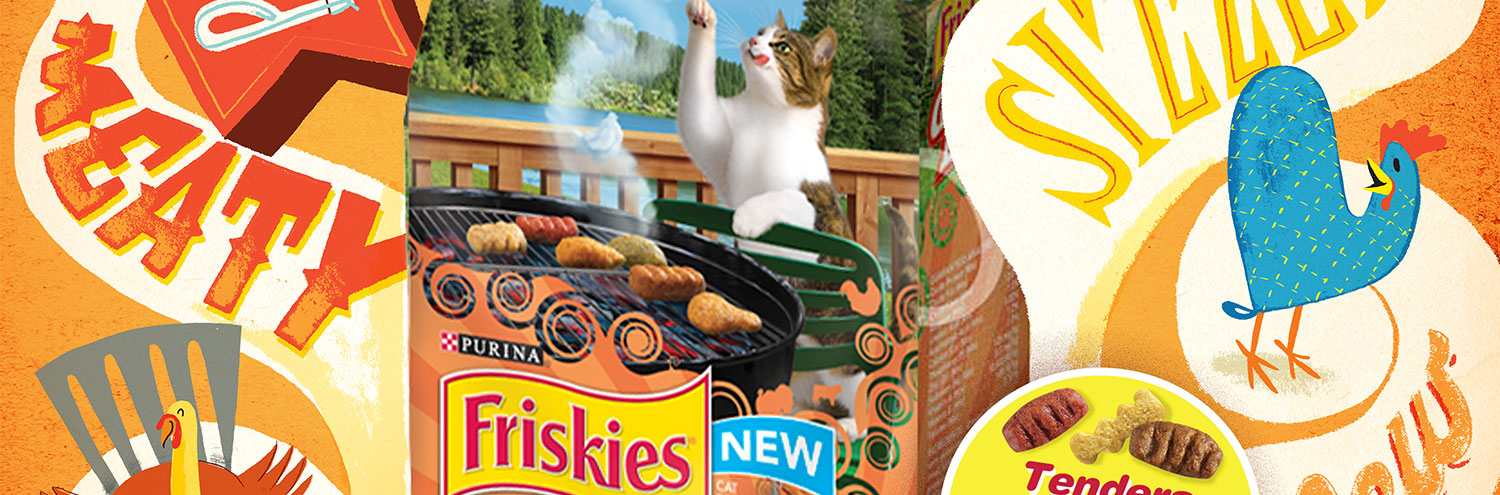 Cats, cats, cats! We love cats! And Jeff Rogers' latest campaign for Friskies BBQ range is an ode to all our furry friends.