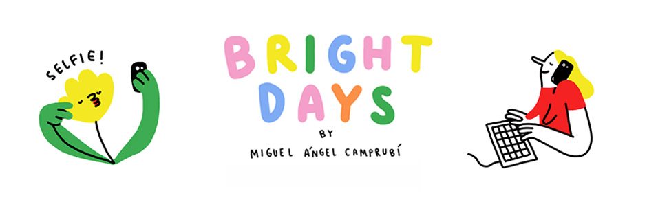 "Miguel Angel Camprubi created ""Bright Days"", a funny and colourful pack of animated Facebook stickers."
