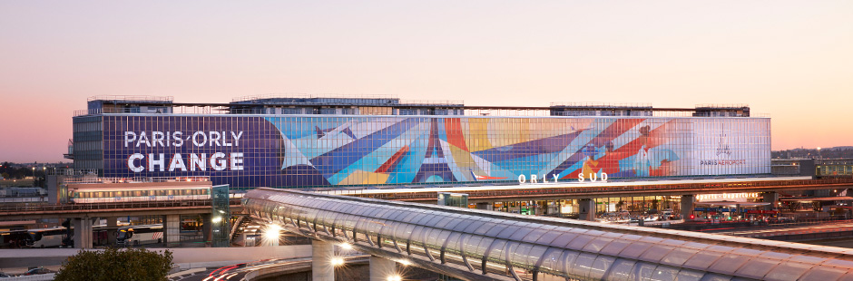 Ray Oranges colours Paris-Orly airport's South terminal with a stunning, gigantic art installation.