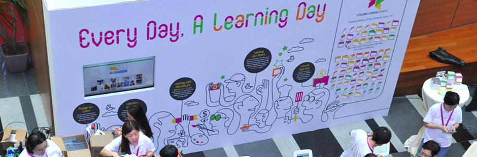 Jonathan's playfully smart one line artworks illustrated Singapore's campaign to promote engaging education for everyone.